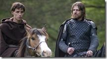 Eddie Redmayne & Sean Bean on Horseback