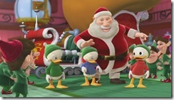 Huey Dewie and Louie in Santa's Workshop
