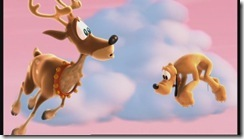 Pluto with Santa's Reindeer