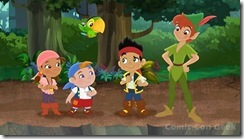 Jake, Peter Pan and the Crew