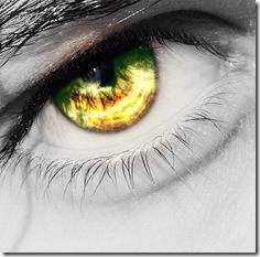 Half Yellow Half Green Caster Eye