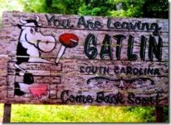Leaving Gatlin Sign