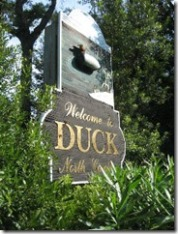 Duck North Carolina Welcome Sign